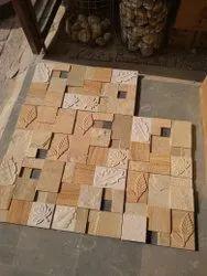 Teak CNC Designer Mosaic Tiles