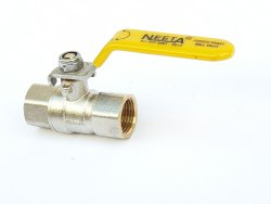 Forged Brass Ball Valve Silver Gold Finish, S.S.Handle, Premium Quality