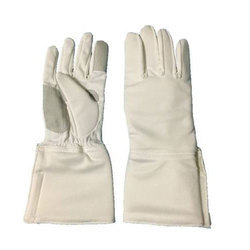 Unisex White Fencing Washable Hand Gloves