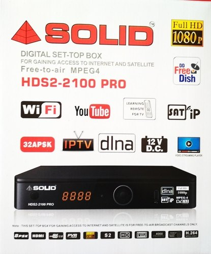 MPEG4 Full HD Box - Solid 2100 Pro With Cccam Cline Mpeg4 Full Hd