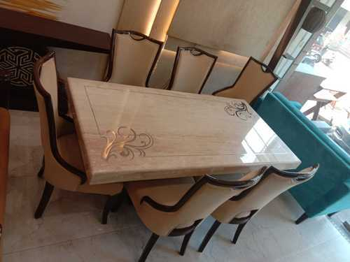 Italian 6 Chairs Dining Table Rs 72000 Piece Royalmarblecraft Id 20404093133