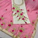 Fashion Turner Women''s Pure Cotton Heavy Embroidery Work Dress Material