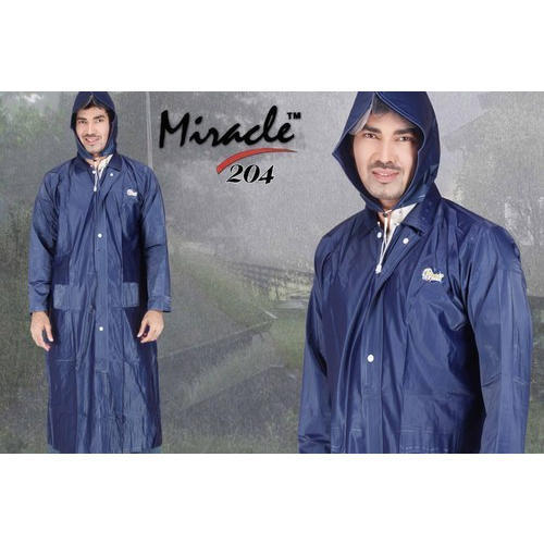 custom special selection of bright n colour Mens Blue Corporate Pvc Raincoat Miracle