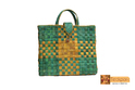 Metis Screwpine Leaf Woven Shopper Bag With Flap-design 1, Bag Size (inches): H 15 W 17