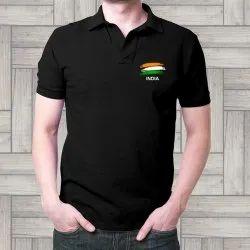 Polo Neck Half Sleeve Mens Black Polo T Shirt