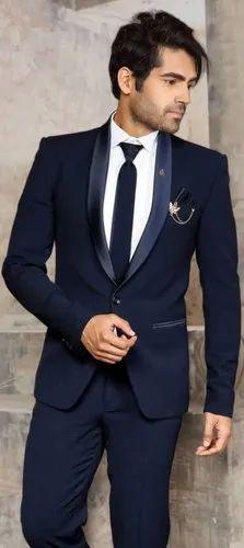 Blue Plain Men Two Piece Suit Rs 3000 No Maheshwari Nx Id 22437038333