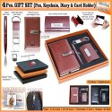 4Pcs Gift Set (Pen,Keychain,Diary & Card Holder) H-903