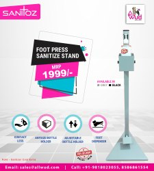 Foot Press Sanitizer Stand