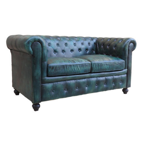 Super Chesterfields 2 Seater Green Color Leather Sofa Garud Pabps2019 Chair Design Images Pabps2019Com