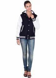 Women Hood Varsity Jacket