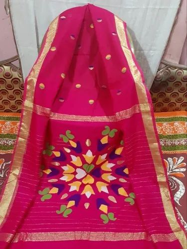 Festive Wear 6.3 M (with Blouse Piece) Rashom Anchal Saree