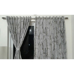 Cotton Printed Decorative Window Curtain, Size: 8 X 6.5 Feet