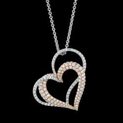 Fancy Heart Shape Designed Diamond Pendent