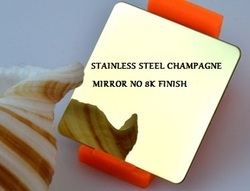 Stainless Steel Champagne Mirror No 8k Finish Sheet