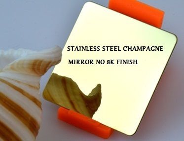 STAINLESS STEEL PVD COATED MIRROR SHEET SHEET - Stainless