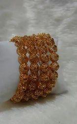 Brass Designer Polki Bangles