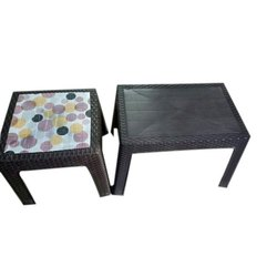 Brown Rectangular Plastic Center Table