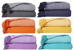 100% Cotton Throw Blankets