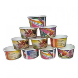 Printed Ice Cream Paper Cup, Capacity: 100 ML, Packet Size: 50 Pcs