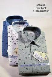 Casual Wear Printed Cotton Shirt