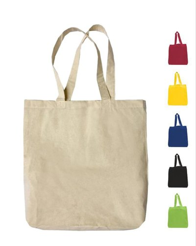 Ecorev Small Cotton Canvas Tote Bags With Contrast Handles