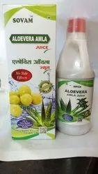 Natural Herbal Aloevera Amla Juice, Packaging Type: Bottle, Packaging Size: 1000ml-500ml