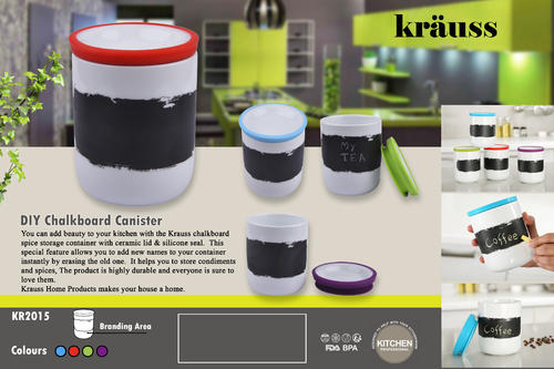 Diy Chalkboard Canister Kitchen Storage Set In Sudhamanagar Bengaluru Total Gift Solutions Private Limited Id 14932826312