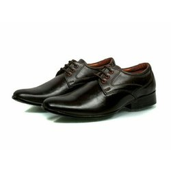 Lace Up Black DSK 016 Mens Formal Leather Shoes, Size: 5-10