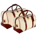 Brown Tan Buffalo Leather Traveling Bags