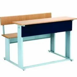 Wooden Dual Desk Bench
