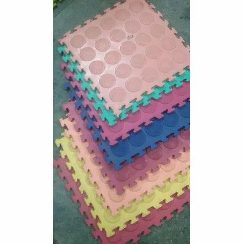 Rubber Interlocking Bathroom Tile Size