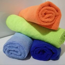 Multicolor Plain Hotel Purpose Microfiber Towel, Size: 40 X 40 Cm, Packaging Type: Poly Bag