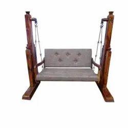 Brown Indoor Wooden Swing