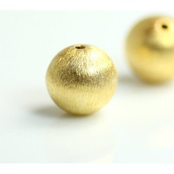Gold Vermeil Sterling Silver Round Bead