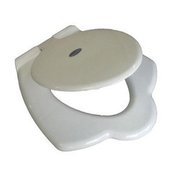 White Plastic Anglo Indian Toilet Seat Cover