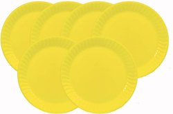 Mehul 7 Plastic, Round Half/ Snack Plate