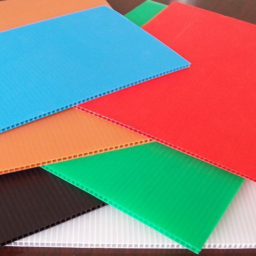 Colored PP Corrugated Sheet