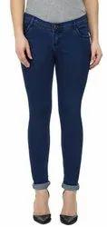 Stretchable Slim Ladies Blue Denim Jeans