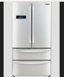 Silver Whirlpool French Door Bottom Mount 570 L Refrigerator