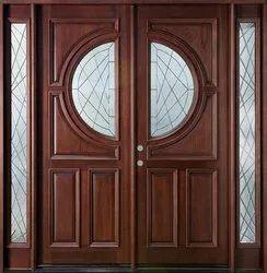 Exterior Solid Wood Wooden Door, For Home