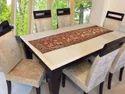 Maroon Brocade Elephant Table Runner Table Cloth