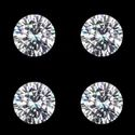 Round Cut White Colorless Moissanite Stone