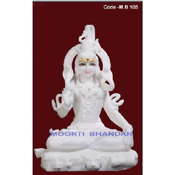 Shiv Shankar White Makrana Marble Statue