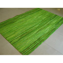 Indiana Lime Leather Rug