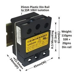 25 AMP DC TO AC SOLID STATE RELAY