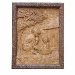 Wooden and Fiber Modern Art