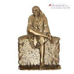 sai baba brass statue