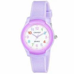 Caviot Purple Round Analog Sports Watch for Girls - CK007
