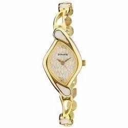 Sonata Analog Girls Golden Wrist Watch