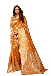 Yellow Fancy Silk Sarees